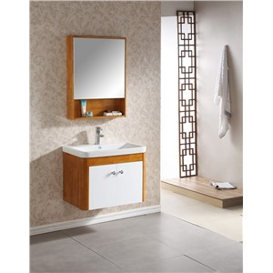 Modern design hanging bathroom cabinet bathroom vanity with natural wood color  0283-100345