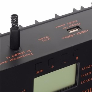 80A LCD PWM Solar Battery Regulator Charge Discharge Controller 12V 24V Hot