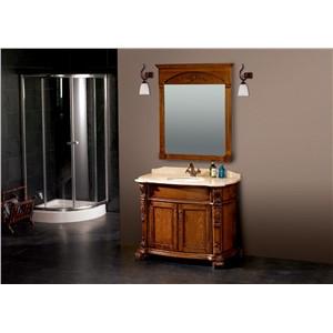 European-style solid wood bathroom cabinet with cabinet basin
