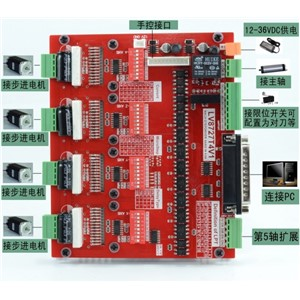 DIY CNC engraving machine stepper 4.2A 57/4-axis / driver board stepper motor driver / interface board / servo