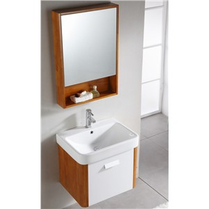 Modern style bathroom cabinet single sink small cabinet