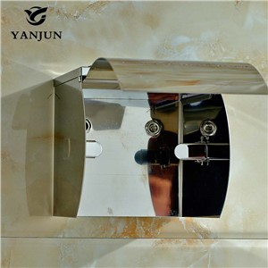 Yanjun Stainless Steel Toilet  Paper Roll Holder With ashtray Wall Mounted Paper Towel Holder Bathroom Accessories YJ-8811
