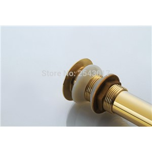 Bathroom Accessories Basin Sink Waterlet Golden Polished Kitchen Sink Click-Clack Strainer Waste Drainer ZR2013