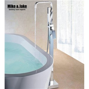 Bath stand along faucet Free stainding bathtub faucet twist pipe bathtub mixer single handle bathroom faucet