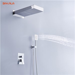 "BAKALA luxury 20"" Rainfall Shower Head Shower Set SUS304 Mirror Panel with hand Shower Spray SPA Embedded Box Concealed CF-F1003"