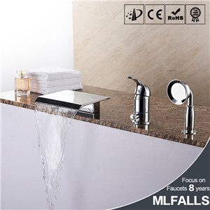 bathtub faucet hole with five suits all copper chrome shower bathroom faucet three set
