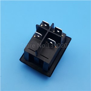 5Pcs RL2 Black Waterproof 4Pin 2Position Locking DPST ON-OFF Rocker Switch