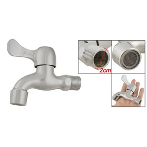 Quarter Turn Water Tap Filtering Net Faucet Silver Tone