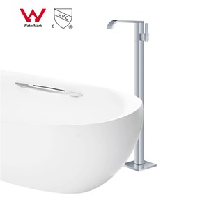 WELS and CUPC Brass Chrome Bathtub Floor stand Faucet Free Standing tub filler Shower Faucets