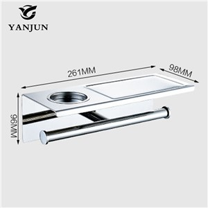 Yanjun 2016 New Style Multi-function Bathroom Shelves With Ashtray Double Roll toilet Paper Holders Bathroom Accessories YJ-8823