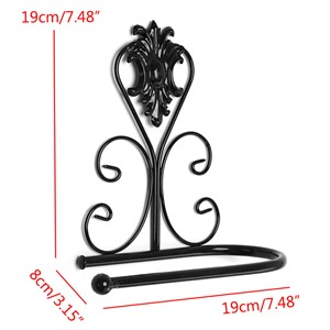 New Vintage Iron Toilet Paper Towel Roll Holder Bathroom Wall Mount Rack Black New