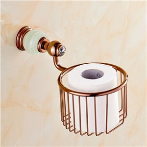 Copper Jade Rose Gold Marble Paper Towel Basket storage Basket Bathroom Toilet Paper Holder bathroom accessories 7134