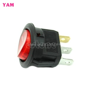 5Pcs Light ON-OFF SPST Round Button Dot Boat Car Auto Rocker Switch AC 6A/250V R #G205M# Best Quality