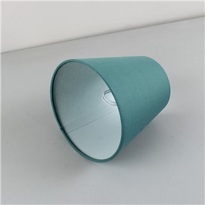 2PCS DIA 14cm/5.51inch Cyan color wall lampshades, modern light lamps with fabric lamp shades, Clip on
