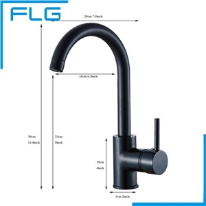 European Black Kitchen Faucet Bibcock Sink Laundry Oil Rubbed Bronze Mixer Sink Water Tap Torneira Cozinha