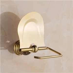 Wall Mounted jade stone brass chrome rose gold toilet paper roll holder wc golden hanger Bathroom Accessories bath hardware set