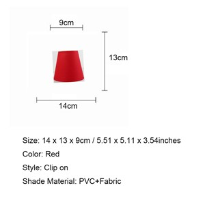DIA 14cm/5.51inch Red Chandelier lampshade, modern light lamps with fabric lamp shades