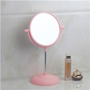 Bathroom Mirrors Pink Bath Mirrors Plastic Rotatable Magnifier Makeup Cosmetic Mirrors