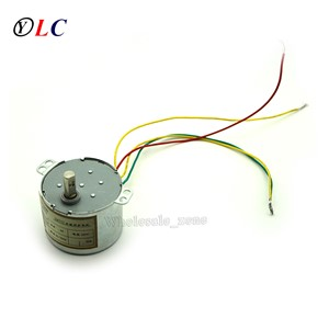 50KTYZ Metal Shell 5RPM AC 220V 8W Permanent Magnet Synchronous Micro Gear Motor Positive & Negative Controlled low-speed