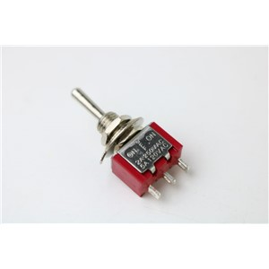 2 Pcs AC SPDT On/Off/On 3 Position Momentary Toggle Switch AC250V/2A/120V/5A LW red