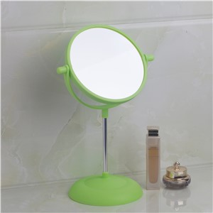 Bathroom Mirrors Green Bath Mirrors Plastic Rotatable Magnifier Makeup Cosmetic Mirrors 5333