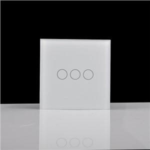 3 gang 1 way single firewire touch sensing wall switch, touch lamp switch, z-wave remote control switch rf 433mzh EU/UK 10A
