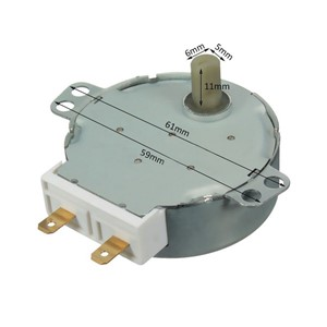 1 PC New  AC 220V-240V 50Hz CW/CCW Microwave Turntable Turn Table Synchronous Motor TYJ50-8A7 D Shaft 4 RPM P2