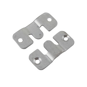 4sets 43x19mm Stainless Steel 2mm Thickness Mirror Painting Hanger 3Type Connector Bracket