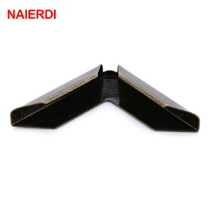 50PCS NAIERDI Antique Metal Wooden Box Corner Decorative Protector Book Notebook Albums Menus Folders Desk Door Corner Bracket