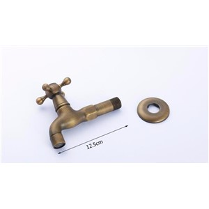 High quality total brass material bronze plating bathroom corner faucet tap garden outdoor mixer