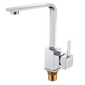 Promotion! Single Lever Morden 3 Inlet Pipes Brass Chroming Kitchen Sink Tap for Low Water Pressure with Aerator