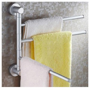 Promotion! 3-Arm Wall Mounted Bathroom Swivel Bars Chrome Towel/Rail/Hanger/Holder Bath
