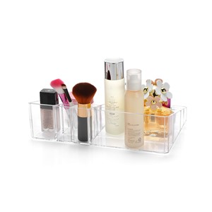 Clear Acrylic Makeup Organizer Cosmetics Display Storage Box Case Jewelry Make Up Lipstick Brush Holder Desk Racks C113
