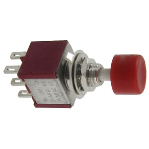 Promotion! 2 Pcs AC 250V 2A 120V 5A DPDT 2NO 2NC Momentary Push Button Switch
