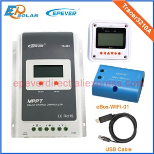 30A 12V/24V MPPT Solar Panel Battery Regulator Charge Controller with MT50 USB and wifi function Tracer 3210A
