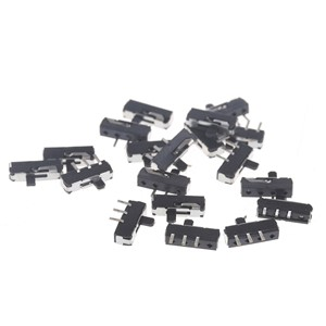 20Pcs Mini SS12D00G3 2 Position SPDT 1P2T 3-Pin PCB Panel Vertical Slide Switch