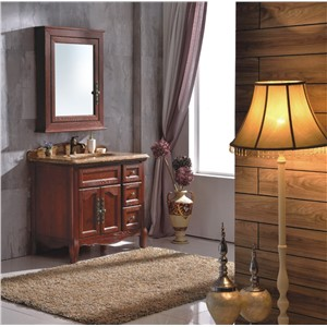 Hot Sale Classic Wood Bathroom Cabinet with Mirror 0281-B-6003