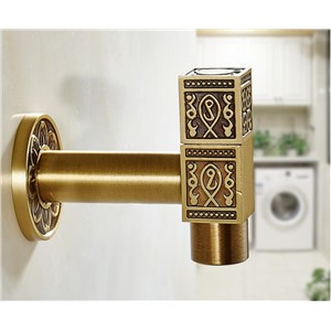 new arrival bronze finish Luxury wall mounted total brass outdoor faucet basin faucet
