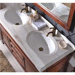 Hot Sale Antique Style Double Sink Wood Bathroom Cabinet with Mirror 0281-B-6007
