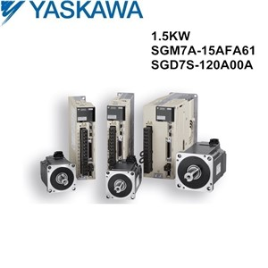SGM7A-15AFA61+SGD7S-120A00A original 1.5kw YASKAWA servo motor and driver with cables