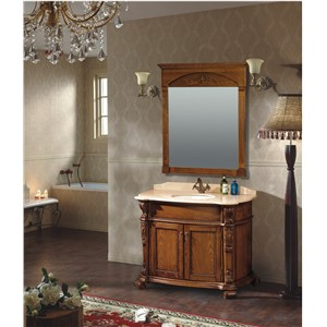 New Design Antique Style Brown Color Wooden Bathroom Cabinet 0281-B-6017
