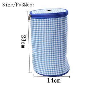D&D 2 Colors Fabric Crafts Empty Knitting Needles Storage Bag Knitting Yarn Holder with Zipper Knitting Tools Organizer 23*14cm