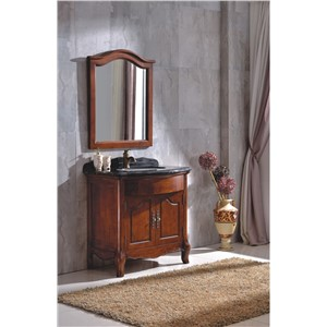 Hot Sale Antique Wood Bathroom Cabinet with Mirror 0281-B-6005