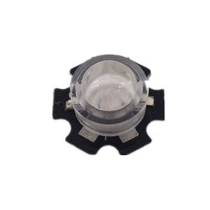 20 pcs/lot 13mm LED mini Lens 45 60 90 100 Degree Needn't Holder 1W 3W synthetical IR LED Power lenses Reflector Collimator