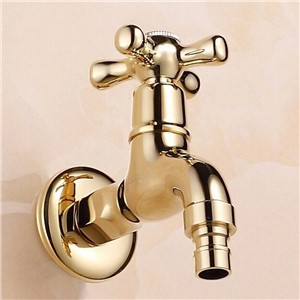 New Gold Brass Garden Faucet Brief bibcock faucet washing machine faucet copper bibcock,Toilet tap,Bibcock tap