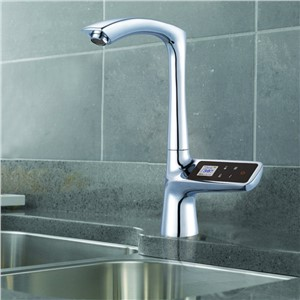 LCD Display Touch Screen Smart Thermostat Sink Faucet Electric Tap Mixer Digital Thermostat Faucet