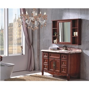2017 new products Shaker Design solid wood bathroom cabinet 0281