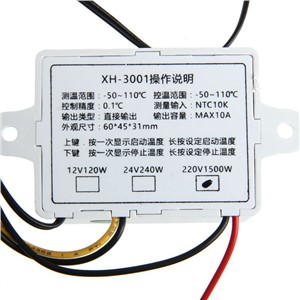 AC 220V 12V 24V 10A Intelligent Digital Thermostat -50~110C Digital Temperature Controller Regulator Switch