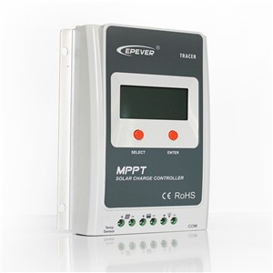 Tracer3210A solar power controller with white MT50 Max Pv Input 100v mppt regulator with BLE and USB cable