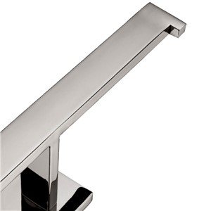 AUSWIND Modern Square Base 304 Staniless Steel Silver Polished Toilet Paper Holder Wall Mounted Bathroom Hardware Set